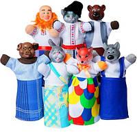 """Кукольный театр """"ПАН КОЦЬКИЙ"""" (премиум упаковка, 7 персонажей, книжка)"""