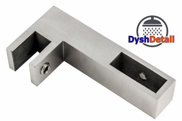 Крепеж прямоугольной трубы на стекле ( К28 )