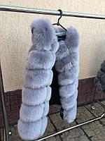 Теплая меховая жилетка на курточку