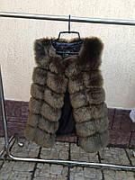 Теплая меховая жилетка на курточку Хаки