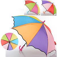 Зонтик детский MK 0529  длина 55см,трость 68см, диам. 85см, спица 50см-пласт, ткань, 4цвета Артикул: MK 0529