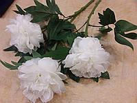 Цветы искуственные Пион Королевский белоснежный
