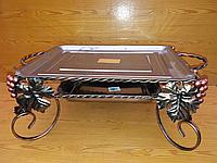 Подставка для шашлыка Садж с коваными элементами прямоугольный