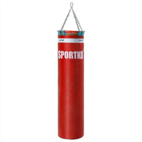 Боксерский мешок с цепями Sportko Элит (высота-140см, диаметр-35см, вес-50кг).