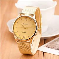 """Женские наручные часы """"Geneva Quartz"""" на золотом браслете (кварцевые)"""