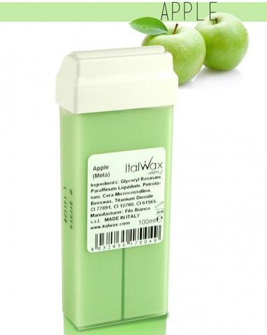 Воск кассетный с роликом Зеленое Яблоко ITALWAX