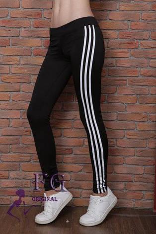 """Женские спортивные лосины """"CrossFit"""" с полосками, красные, фото 2"""