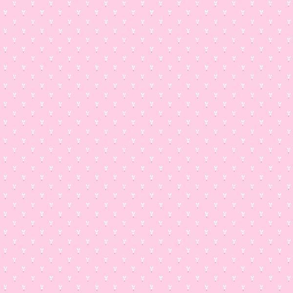 Обои бумажные Континент Зайцы розовые 1315