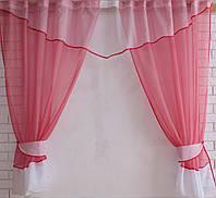 Комплект кухонные шторки с аркой и подвязками е372