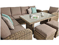 Кутовий диван плетений з ротангу MADERA  MELANGE BRAUN 214х275 см