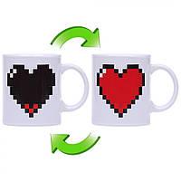 "Чашка хамелеон с сердцем ""Love"" ( подарок на 14 февраля )"