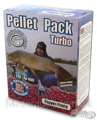 Пеллет Пак Холодный карп 0,8 кг.+100мл аромы + 100гр клея+ 100мл аромы для холдной воды
