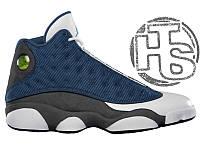 Мужские кроссовки Air Jordan 13 XIII Retro Flint Blue/Grey/White 414571-401
