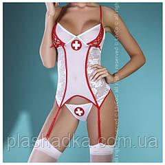 Игривой костюм медсестры Chavi Livia Corsetti(цвет белый+красный)