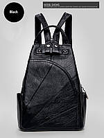 Рюкзак женский кожаный Elegant черный.