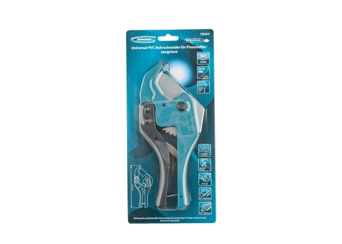 Труборез GROSS профессиональный, ножницы для резки полипропиленовых труб диаметром 42 мм. 78424