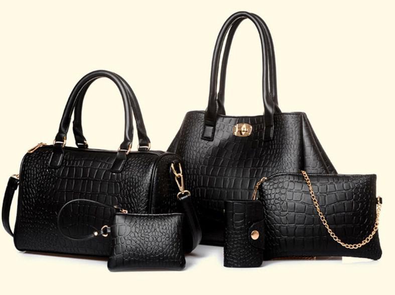 Набор сумок под крокодил для деловых женщин, 5в1