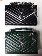 Модная сумка-клатч Yves Saint Laurent, кожа