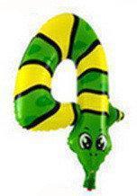 """Фольгированный шар Цифра """"4"""", Змея, высота 50 см"""