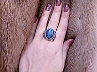Кольцо из тибетского серебра.