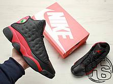 Мужские кроссовки Air Jordan 13 Retro Bred Black/Varsity Red 414571-010, фото 3