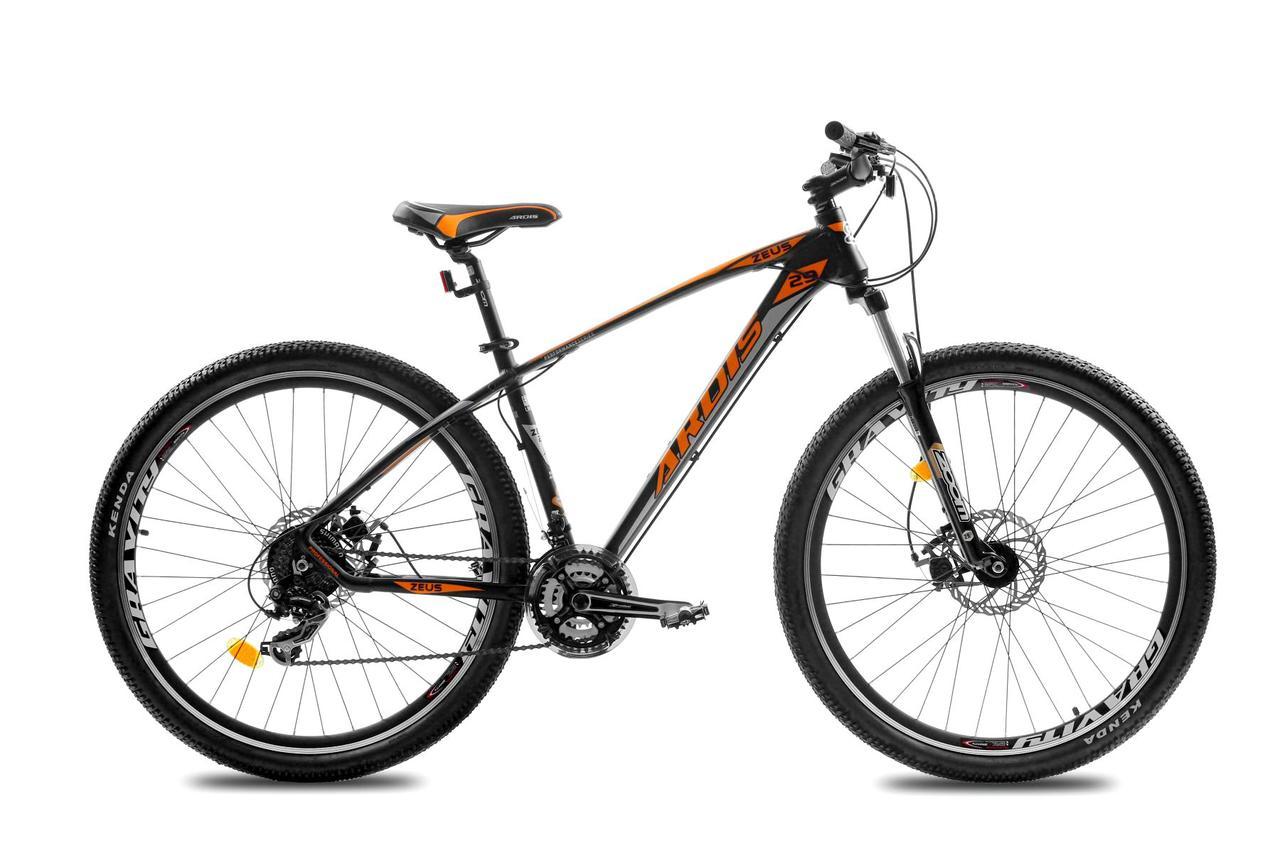 """Горный велосипед ARDIS ZEUS 29"""" алюминиевый с дисковыми тормозами, Черно-оранжевый"""