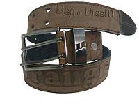 Ремень мужской джинсовый Wrangler WG31 (коричневый) винтаж