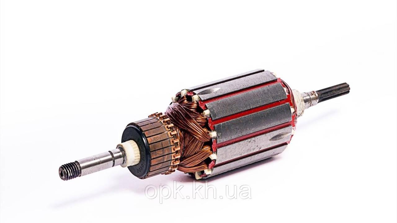 Якорь тст-н триммера электрокосы Темп 1500, Powertec PT 2855, Зенит ЗТС1400 (46*197 мм, Z7 прямые)