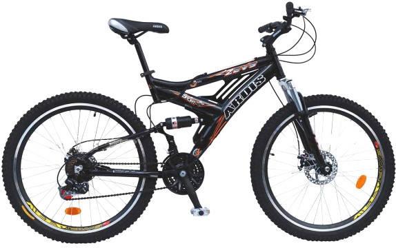"""Горный велосипед ARDIS ZEVS 26"""" 17""""  Черный/Оранжевый"""