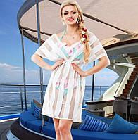 a757beb81bd Платье туника полоска белая в категории пляжная одежда и парео в ...