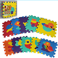 Детский Развивающий Коврик Мозаика M 2619 Животные, Коврик Пазлы 2619 зверята