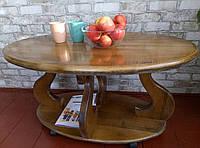 Журнальний столик з натурального дерева горіх (Журнальный столик из натурального дерева)
