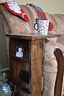 Столик-підставка з натурального дерева  (столик подставка из натурального дерева)
