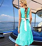 Оригинальное голубое летнее платье Д-092, фото 2
