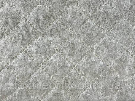 Подкладка нейлон на синтепоне цвет серый квадрат 2х2, фото 2