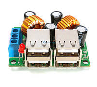 Зарядное устройство 4 USB 5v 6 Ампер, Вход 7-40v