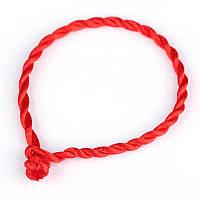 Красная нить- защита от сглаза, плетеный браслет