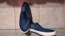 Кеды, слипоны подростковые джинс 35,36,37,37,38,39 рр.