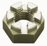 Гайки шестигранные прорезные и корончатые ГОСТ 5918-73, 5932-73, DIN 935 нержавеющие