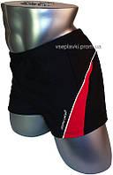 Мужские плавки для купания большого размера Atlantic Beach 79128-2 черный с красным