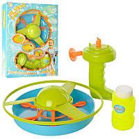 Мыльные пузыри 0605 игра, вертушка на запуске, запаска, в кор-ке, 26-34-7см