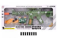 Детский автомат HY022, свет + муз., набор оружия