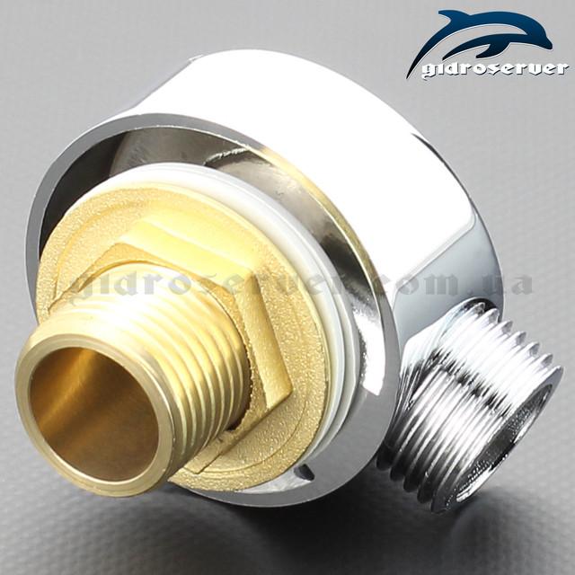 Подсоединение для душевого шланга UD-04 изготовлено из латуни.