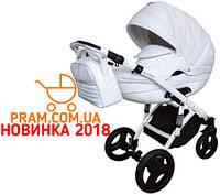 Универсальная коляска 2 в 1 Victoria Gold Lumi d00 Эко-кожа Белый