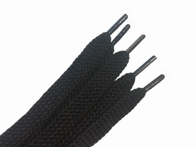 Шнурки для взуття 120 см чорний