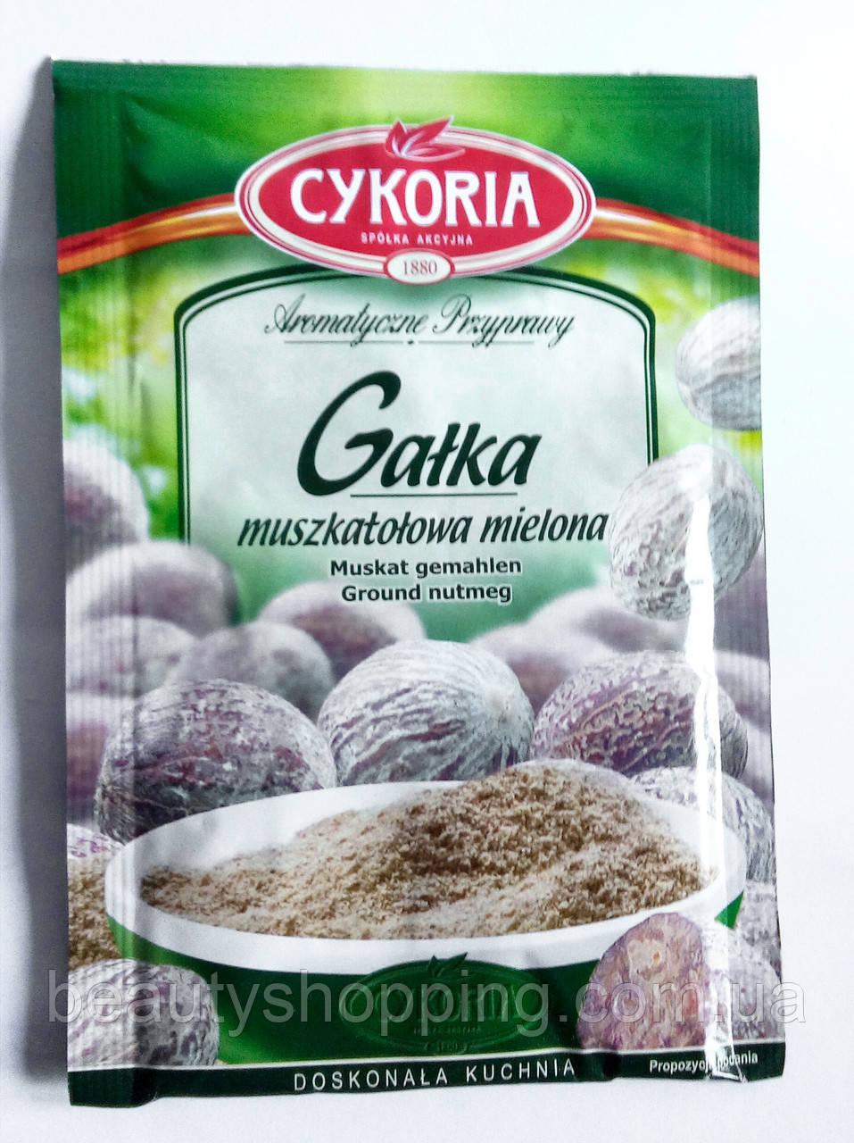 Мускатный орех молотый 15 г Cykoria Польша