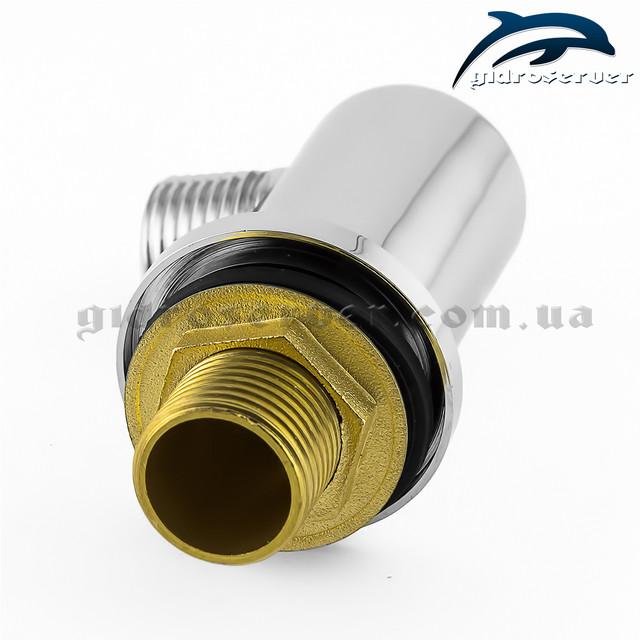 Шланговое подсоединение для лейки ручного душа UD-06 с размером соединительной резьбы 1/2 дюйма.