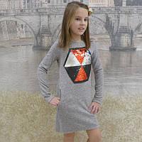 Теплое платье для девочек