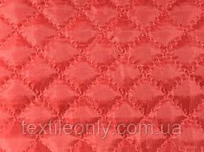 Підкладка нейлон на синтепоні колір червоний квадрат 2х2