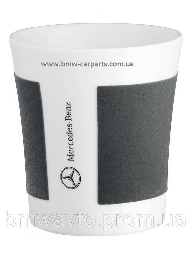 Фарфоровий кухоль Mercedes Porclain Mug White Grey, фото 2